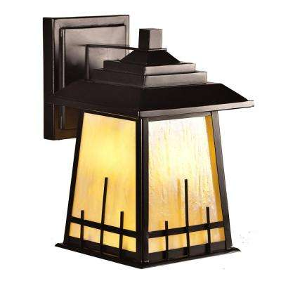 Clyde 1-Light Oil Rubbed Bronze Outdoor Wall Sconce