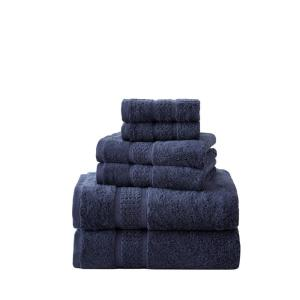 Deals on Nautica Oceane 6-Piece Navy Blue Cotton Towel Set