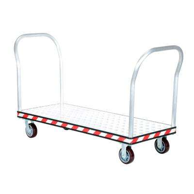24 in. x 60 in. Aluminum Treadplate Platform Trucks with Double Handles