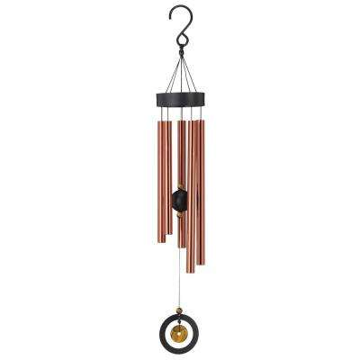 Precision-Tuned Healing Stone 32 in. Wind Chime - Tiger's Eye