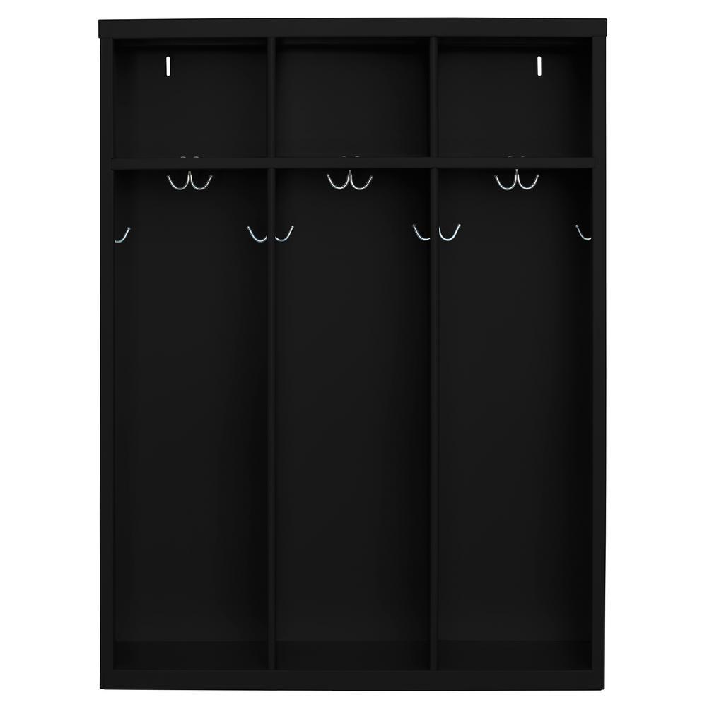 1-Shelf Steel Open Front Kids Locker in Black