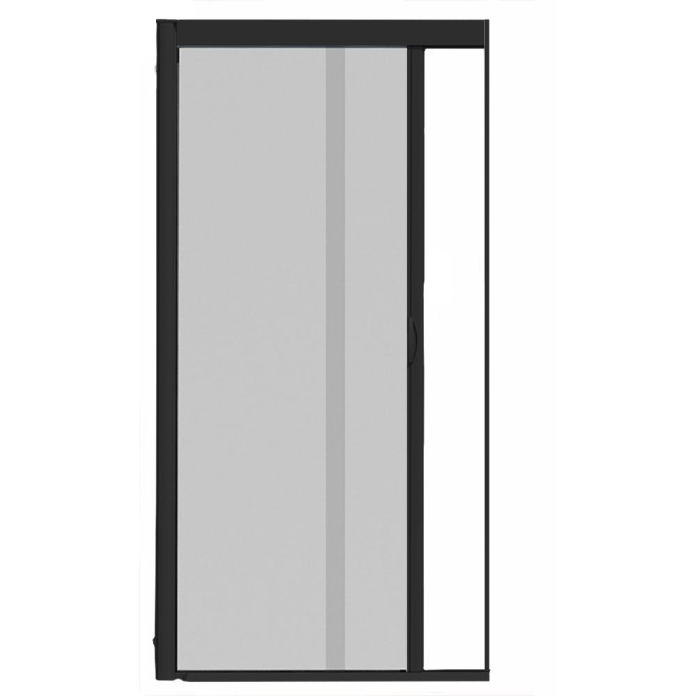 44 in. x 84 in. VS1 Black Retractable Screen Door, Single