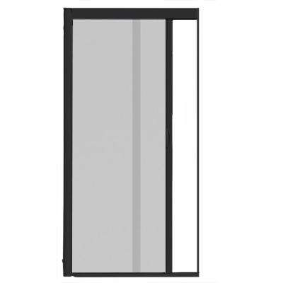 44 in. x 84 in. VS1 Black Retractable Screen Door, Single Cassette