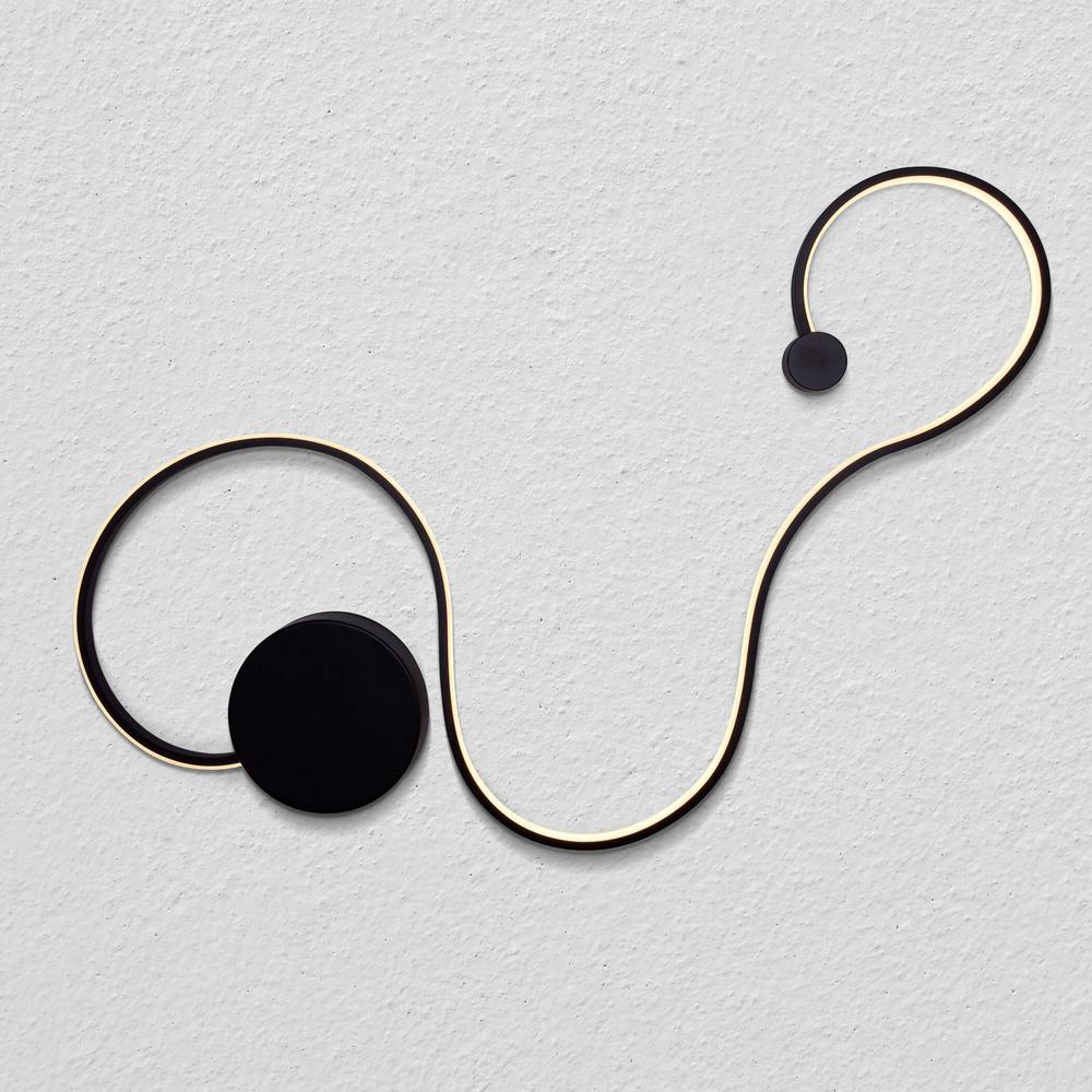 Sirius 18-Watt Black Integrated LED Sconce