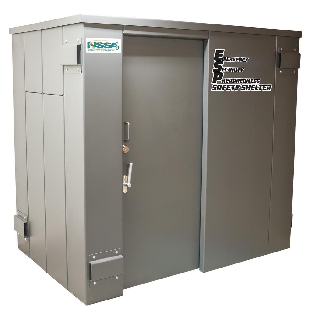 ESP 7 25 ft. x 4.75 ft. x 6.5 ft.. Metal Tornado Safety Shelter