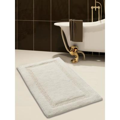 34 in. x 21 in. Cotton Bath Rug in Ivory