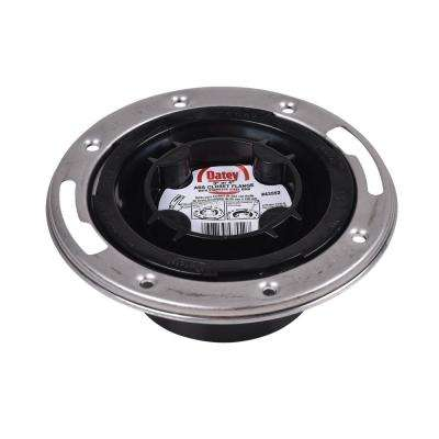 Oatey ABS Closed Toilet Flange with Pre-Installed Testing Cap and Stainless Steel Ring
