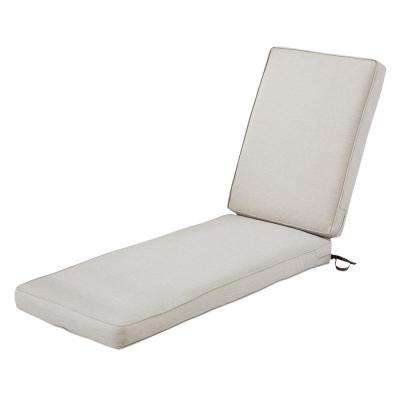 Montlake FadeSafe Heather Grey Outdoor Chaise Lounge Cushion