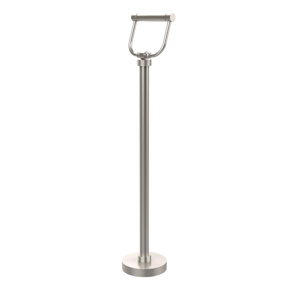 Free Standing Toilet Paper Holder in Satin Nickel