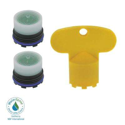 1.5 GPM Tom Thumb Size PCA Cache Water-Saving Aerator with Key (2-Pack)