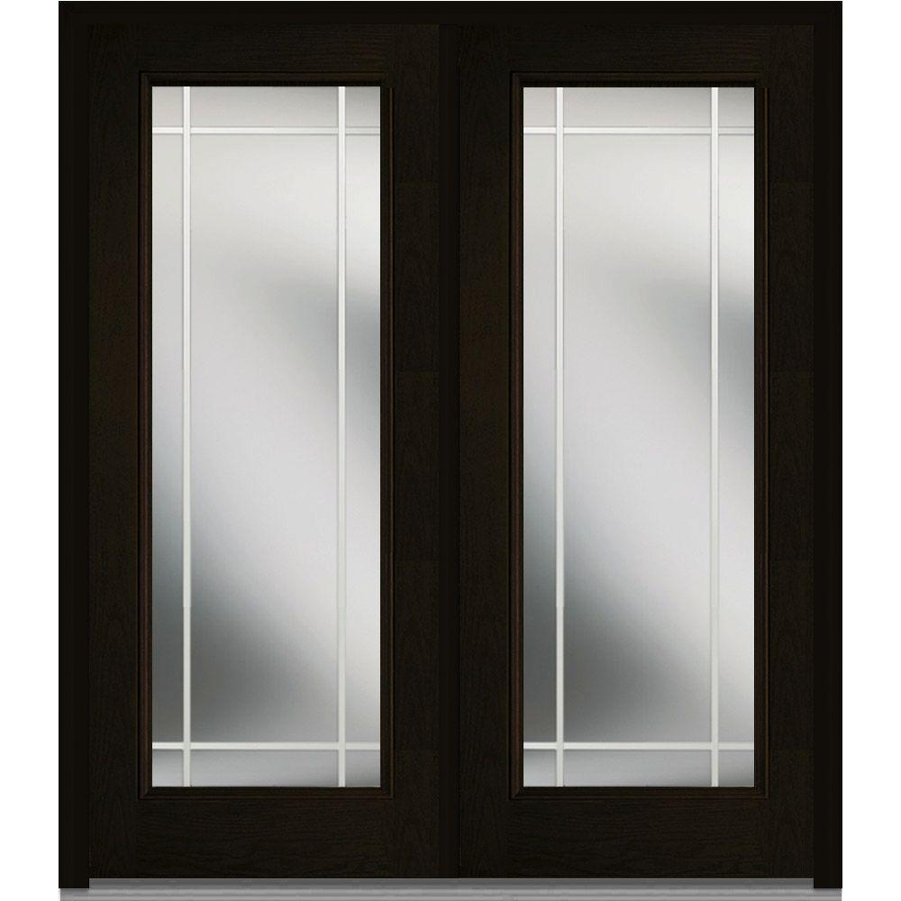Beau MMI Door 64 In. X 80 In. Prairie Internal Muntins Right Hand Inswing