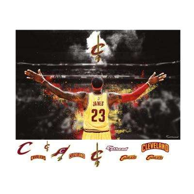 48 in. H x 72 in. W Lebron James Mural Wall Mural