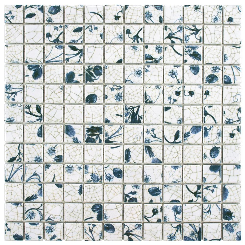 Merola Tile Strawberry Fields 11-5/8 in. x 11-5/8 in. x 6 mm ...