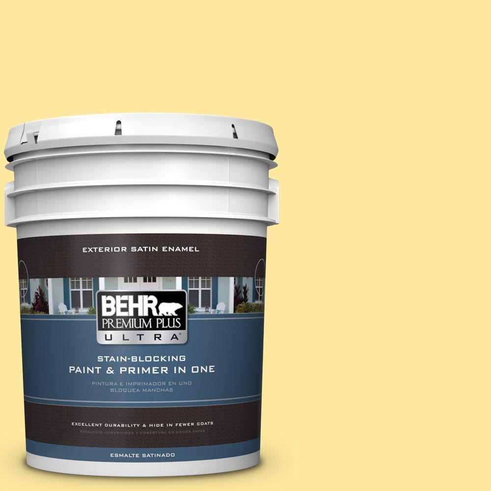 BEHR Premium Plus Ultra 5-gal. #P300-4 Rise and Shine Satin Enamel Exterior Paint