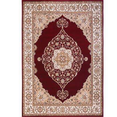 Bazaar Emy Red/Ivory 7 ft. 10 in. x 10 ft. 1 in. Area Rug