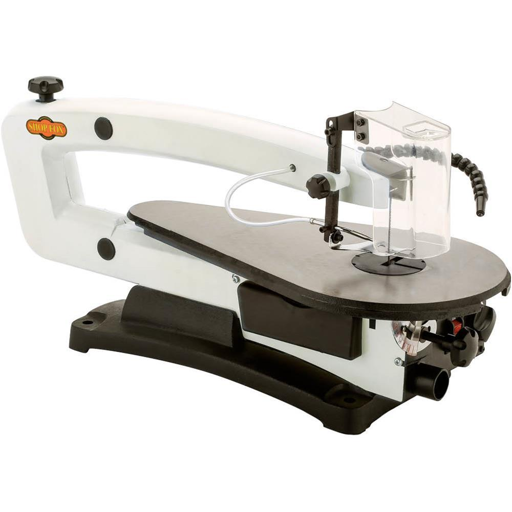 Shop Fox 18 in. VS Scroll Saw with LED and Rotary Tool Kit
