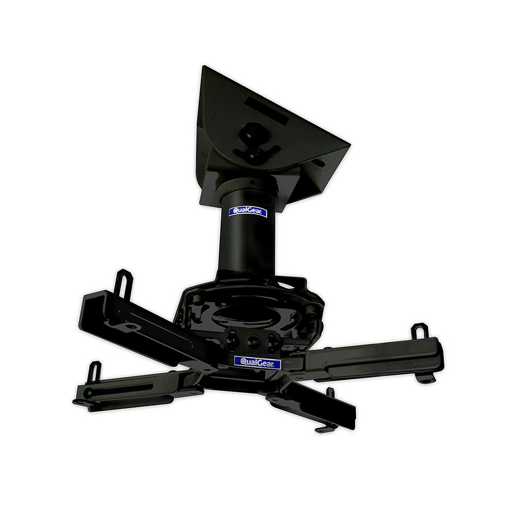 Qualgear Pro Av Projector Mount Kit With A Vaulted Ceiling Adapter 3 In