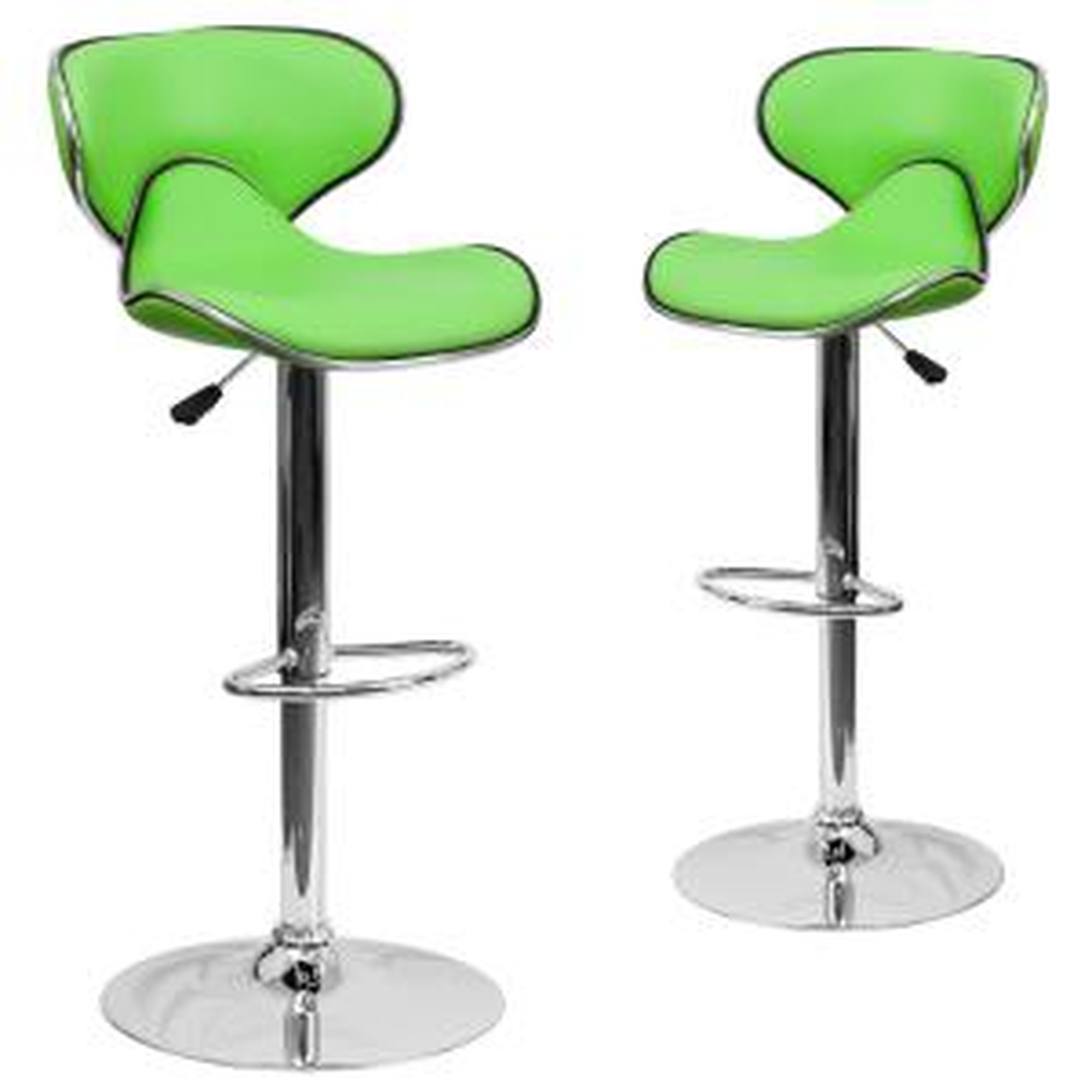 Pleasing 32 5 In Green Bar Stool Set Of 2 Camellatalisay Diy Chair Ideas Camellatalisaycom