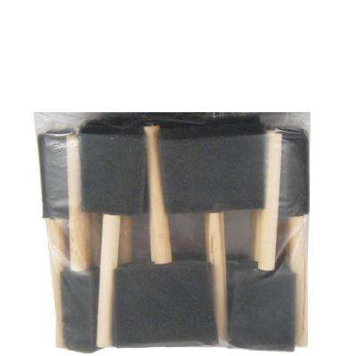 1 in., 2 in. and 3 in. Foam Brush Paint Brush Set (48-Pack)