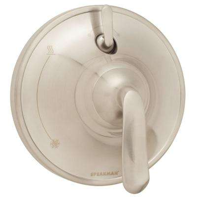 Caspian Pressure Balance Valve with Diverter and Trim in Brushed Nickel