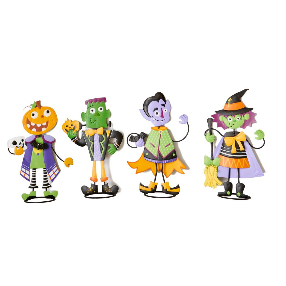 24 In Metal Standing Halloween Figures 4 Set 8859 The