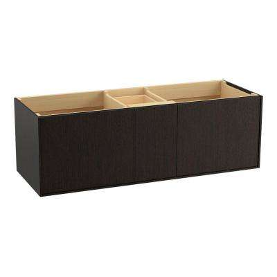 Jute 60 in. Vanity Cabinet Only in Satin Oak