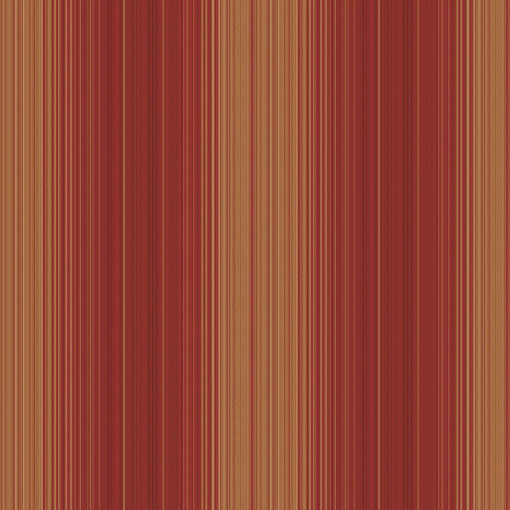 The Wallpaper Company 8 in. x 10 in. Red Jewel Tone Hampton Stripe Wallpaper Sample