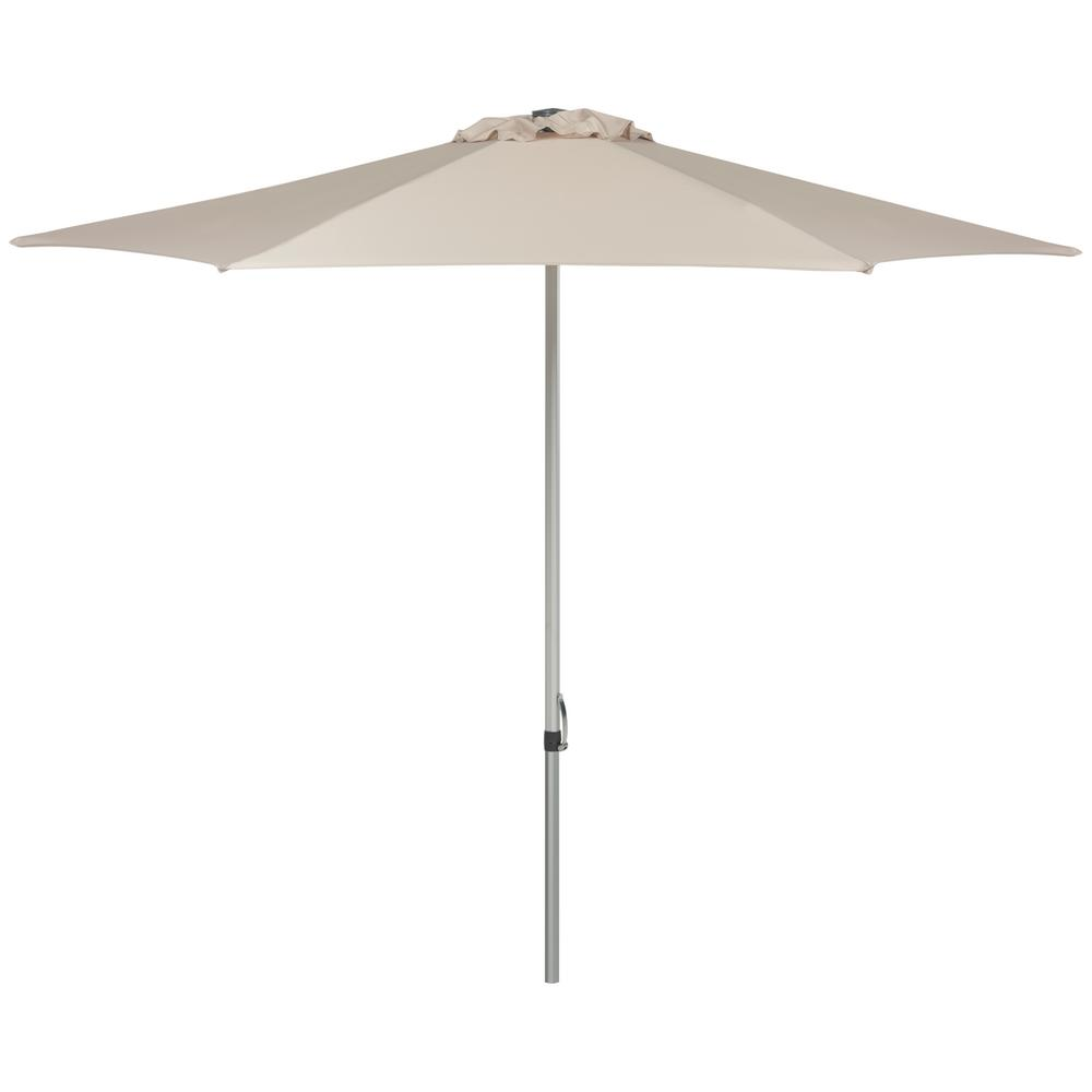 Safavieh Hurst 9 ft. Aluminum/Steel Market Patio Umbrella in Beige