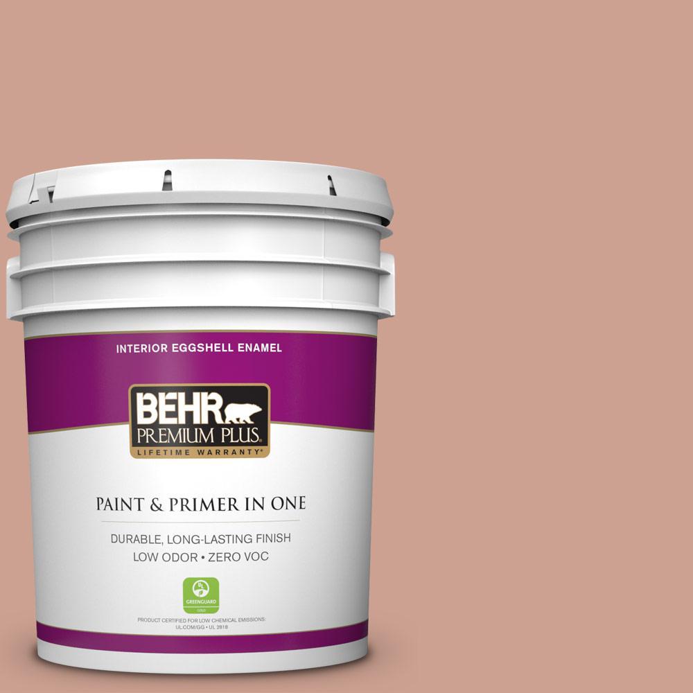 BEHR Premium Plus 5-gal. #220F-4 Sombrero Tan Zero VOC Eggshell Enamel Interior Paint