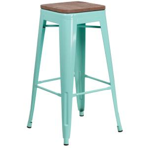 Stupendous Osp Home Furnishings Bristow 26 In Antique Sky Blue Bar Customarchery Wood Chair Design Ideas Customarcherynet