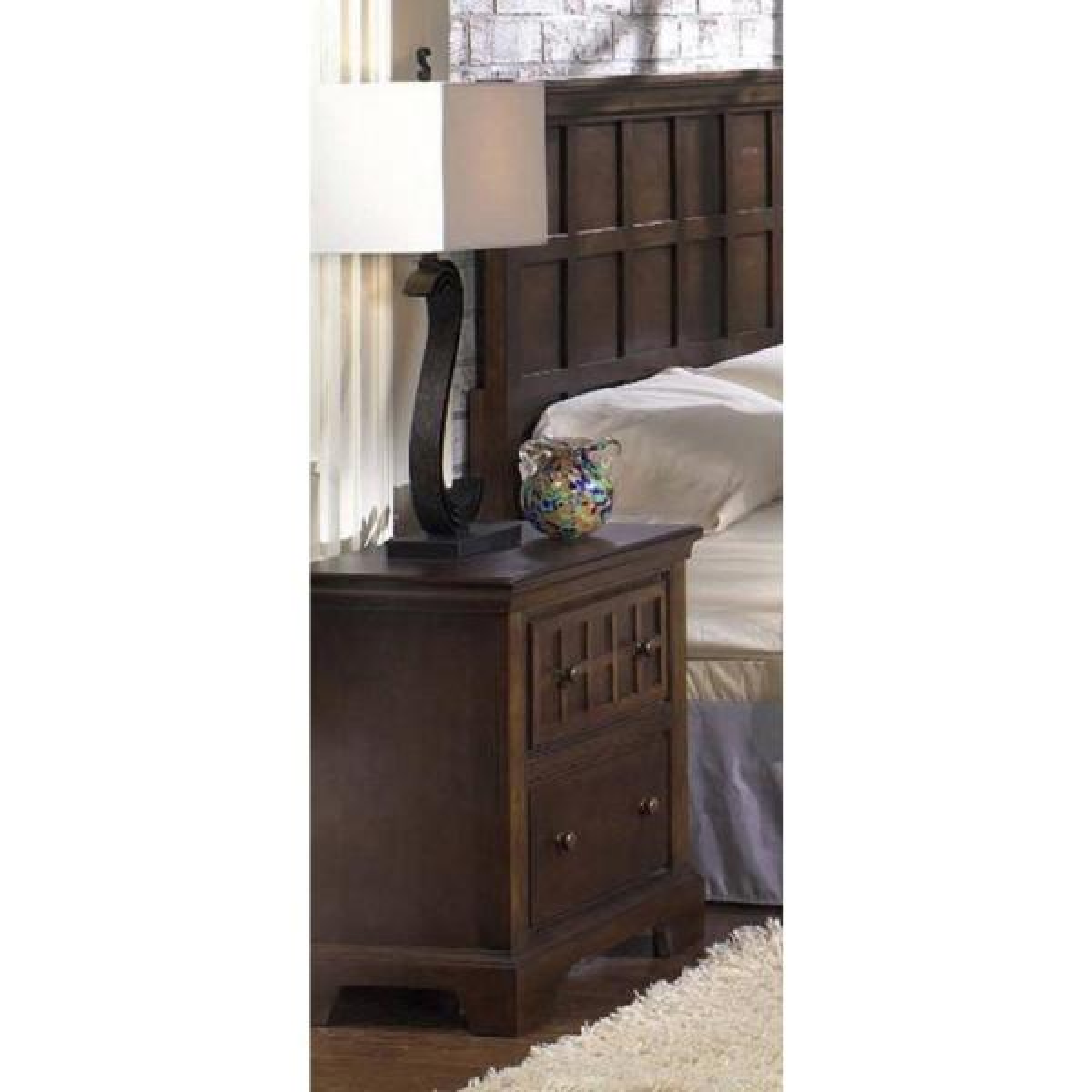 Progressive Furniture Casual Traditions 2-Drawer Walnut Nightstand P107-44