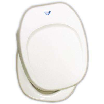 Seat and Cover Assembly, Parchment for Aqua Magic IV Permanent Toilet