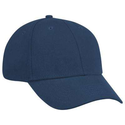 One Size Fits All Navy Cotton Ball Cap