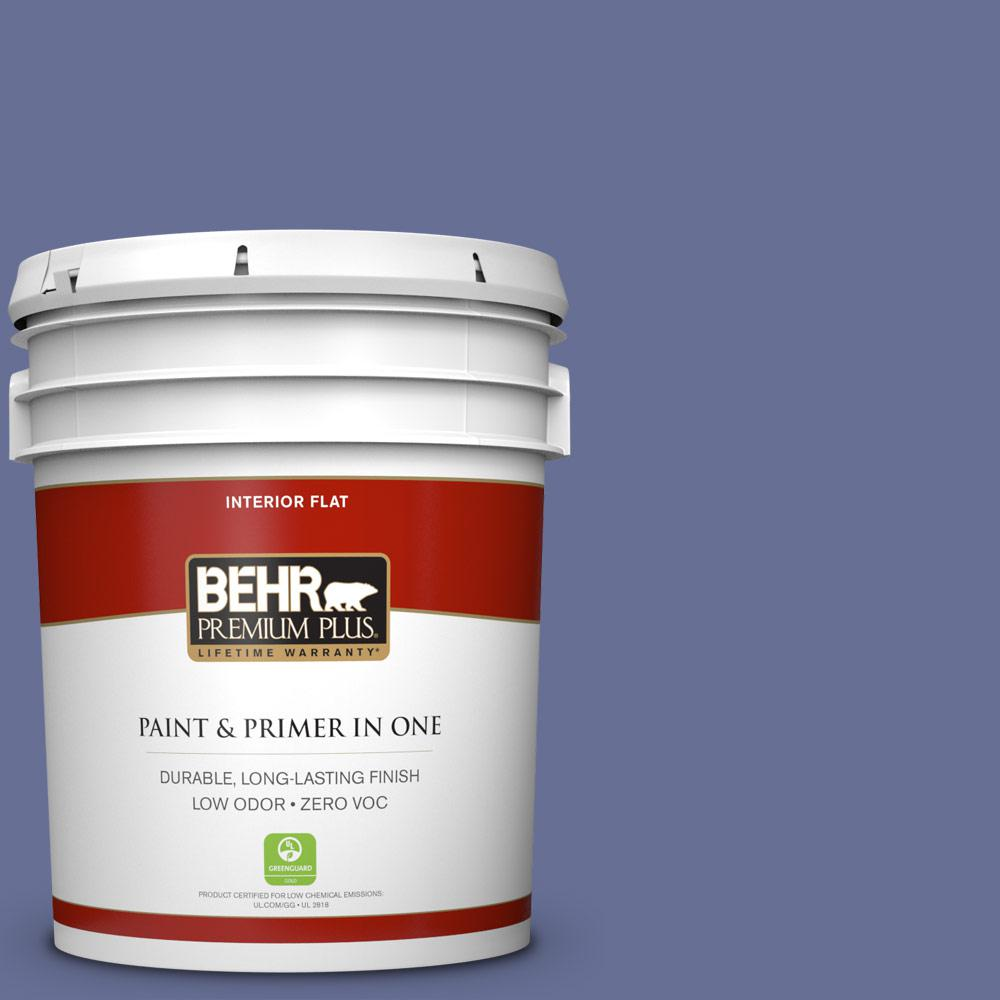 5 gal. #620D-6 Royal Intrigue Zero VOC Flat Interior Paint