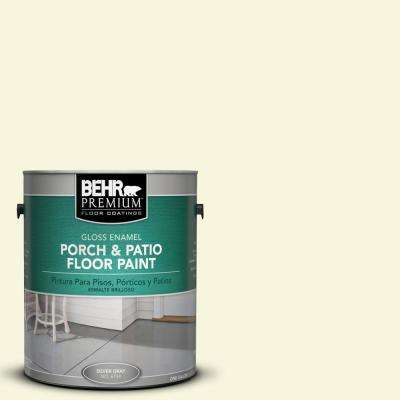 1 gal. #W-B-420 White Hydrangea Gloss Interior/Exterior Porch and Patio Floor Paint