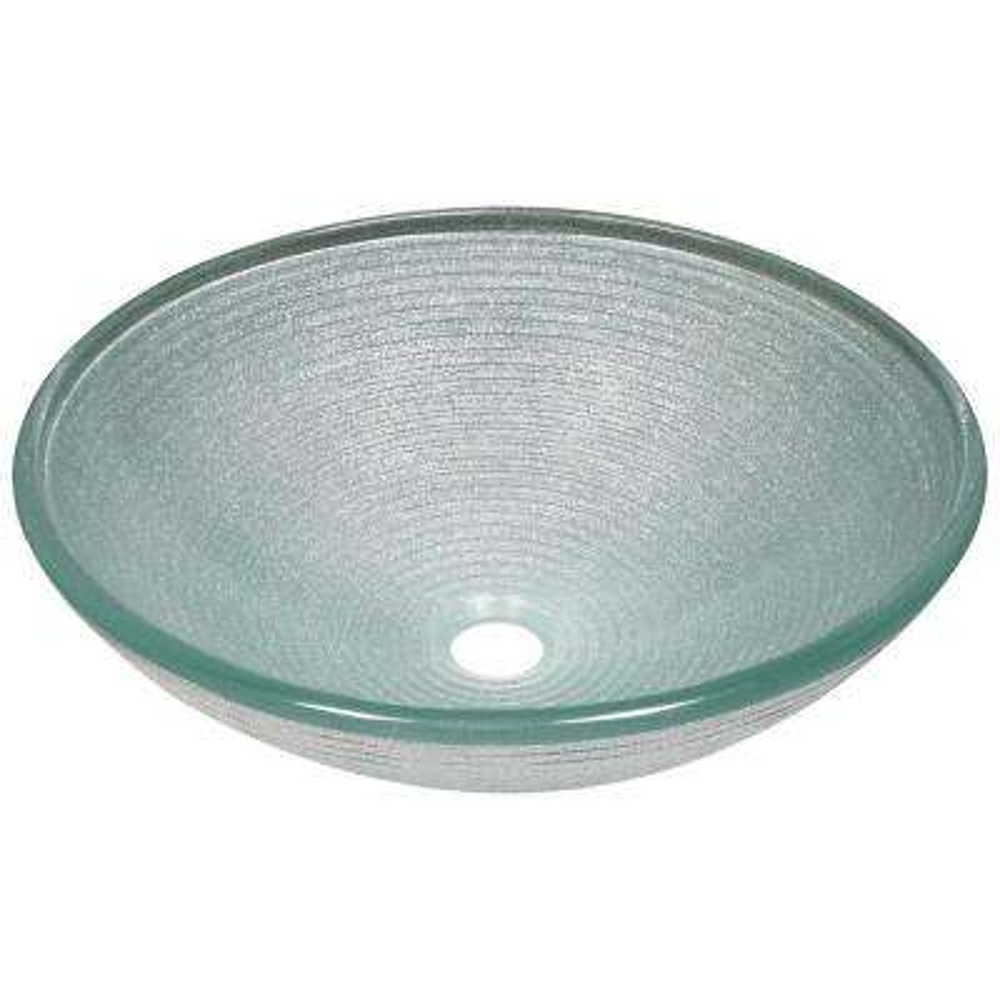 Glass Vessel Sink in Iridescent Foil Undertone
