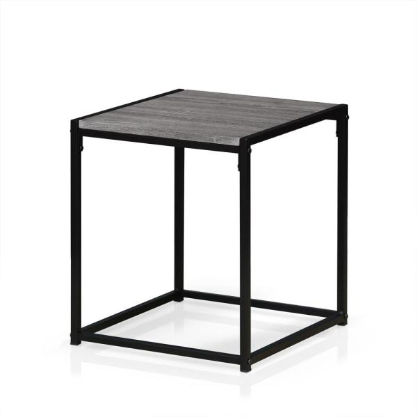 Furinno Ernst French Oak Grey 2-Tier End Table FM4045ST-1GYW