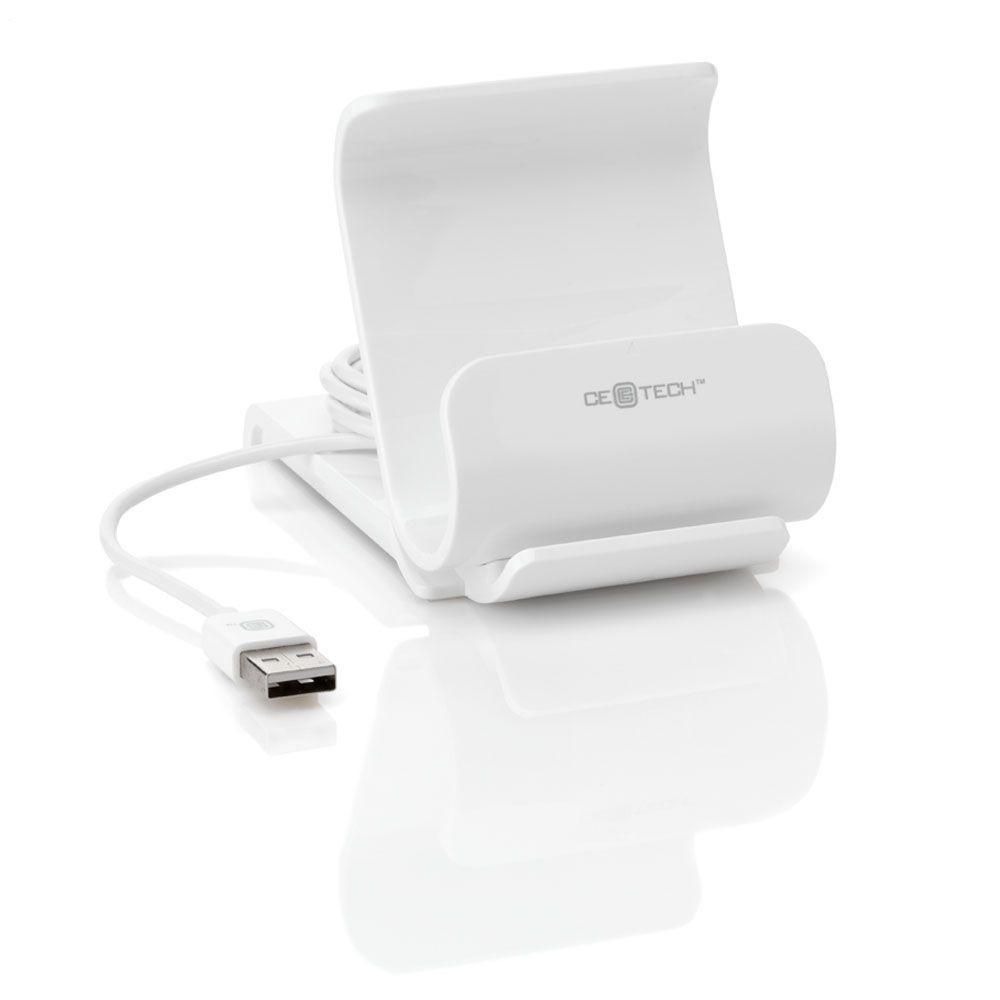 CE TECH 2.1 Amp Charging Dock - White