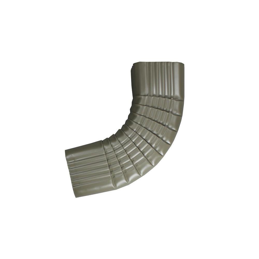 2 in. x 3 in. Terratone Aluminum Downpipe - B Elbow