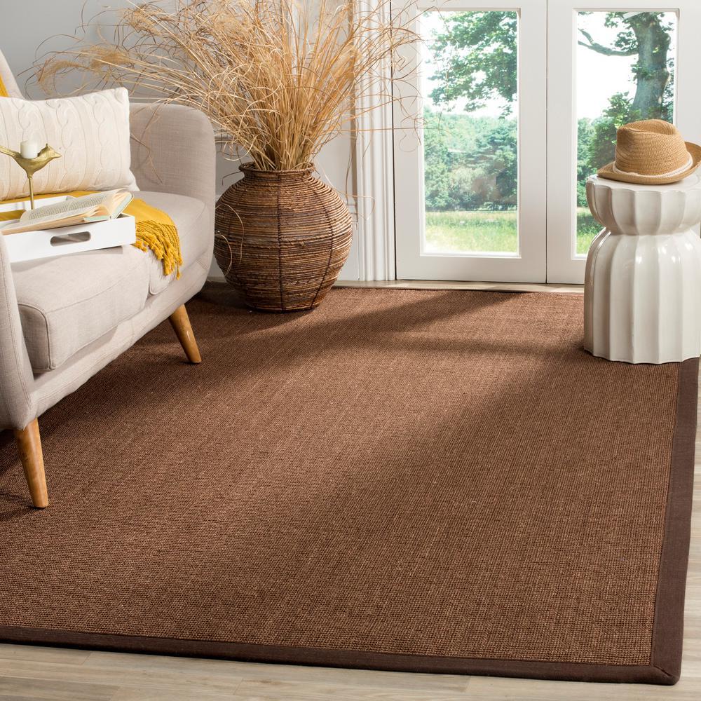 Safavieh Natural Fiber Brown 6 ft. x 6 ft. Square Indoor Area Rug
