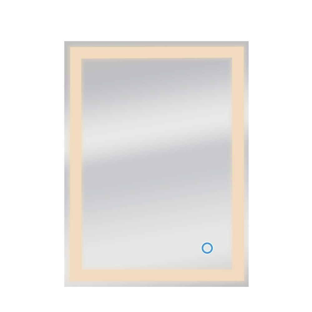 Dyconn Edison Tri-Color 24 in. x 32 in. Single LED Wall Mounted Backlit LED Bathroom Mirror