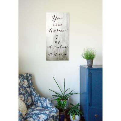"15.75 in. W x 20 in. H ""You Are My Home"" by JLB Printed Wall Art"