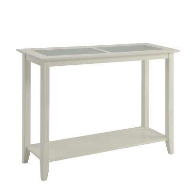 Carmel White Glass Inlay Console Table