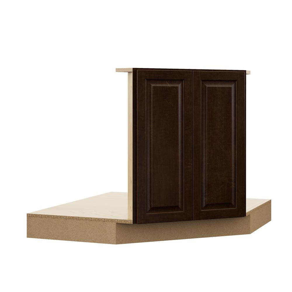 Corner Sink Base Kitchen Cabinet: Hampton Bay Designer Series Gretna Assembled 42x34.5x23.75