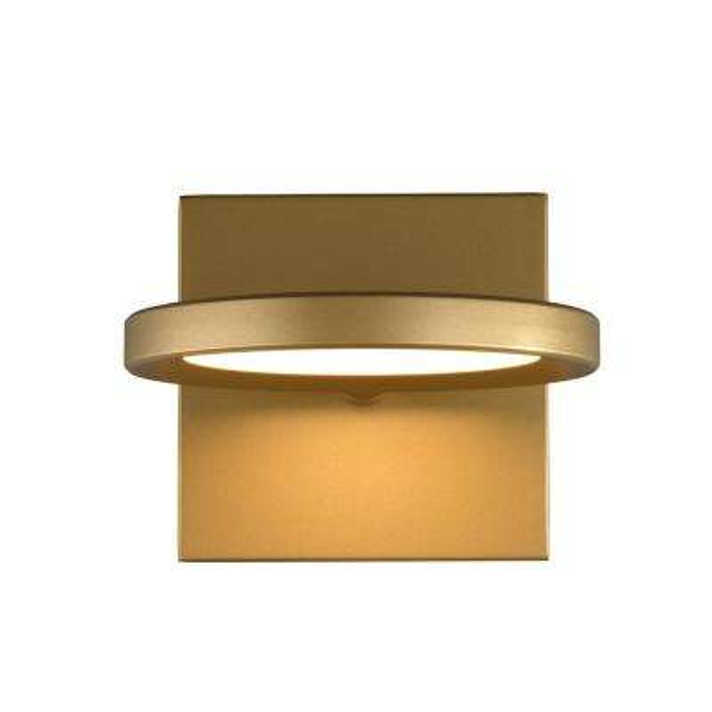 Spectica 9-Watt Satin Gold Integrated LED Sconce