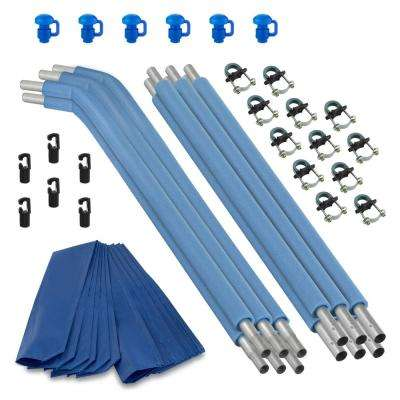 Trampoline Replacement Enclosure Poles and Hardware (Set of 6 Net Sold Separately)