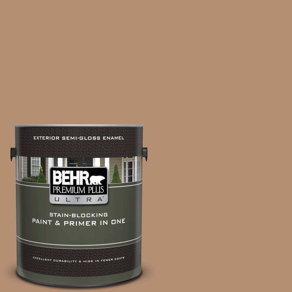 Behr Premium Plus Ultra 1 Gal S240 5 Poncho Semi Gloss Enamel Exterior Paint And Primer In One 585401 The Home Depot