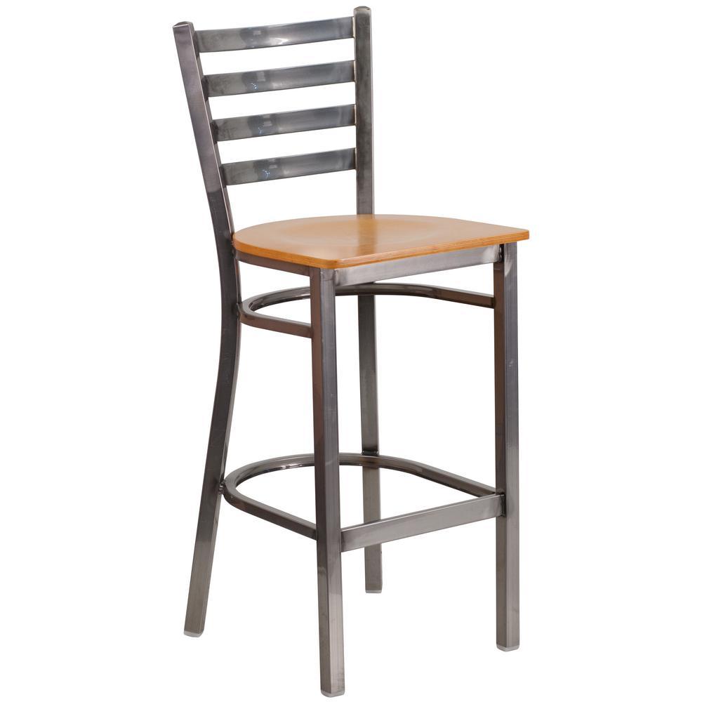 Clear steel bar stool