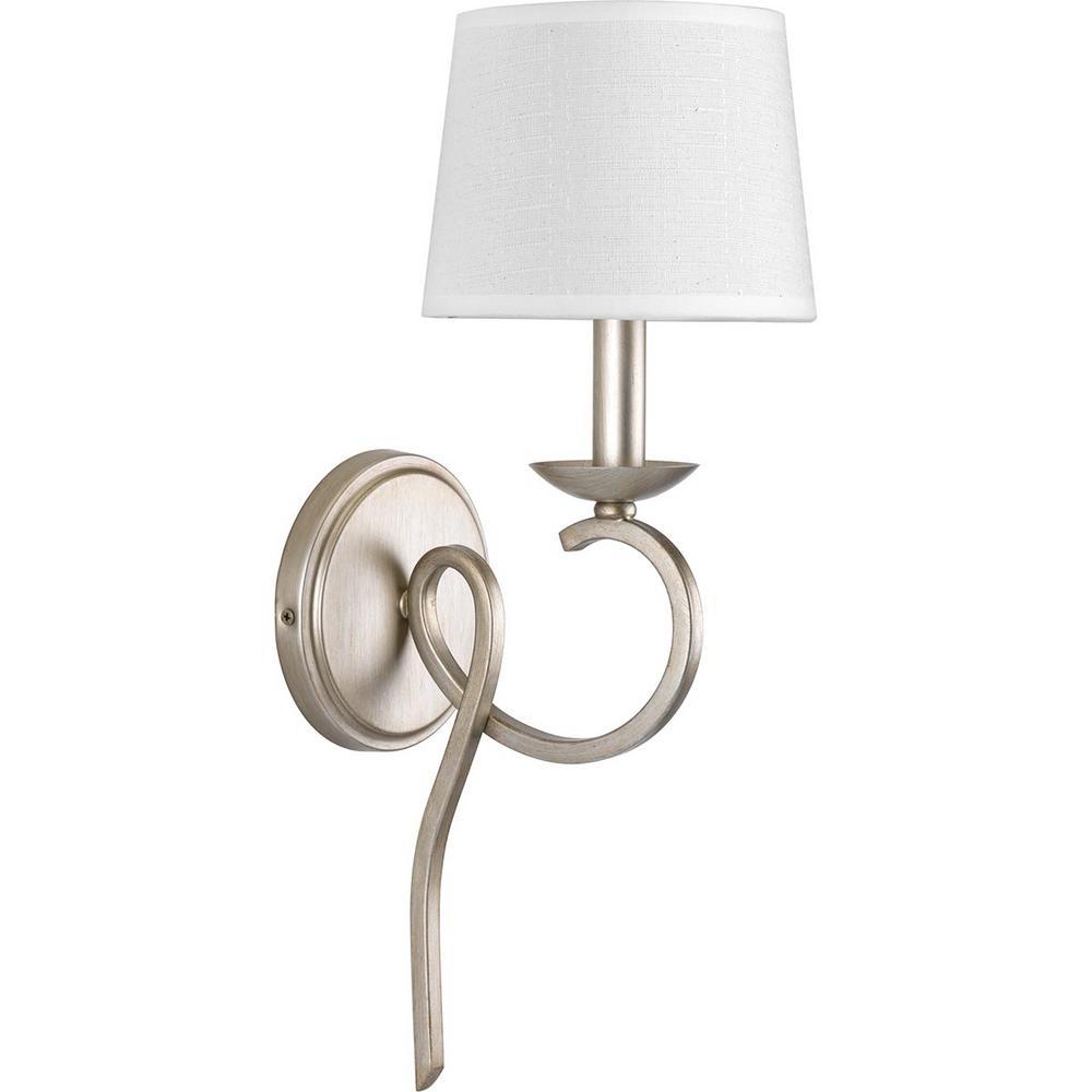 Savor Collection 1-Light Silver Ridge Sconce