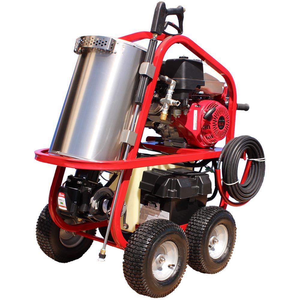 Commercial 4000 PSI 3 5 GPM 12-Volt Kohler Gas Driven Hot Water